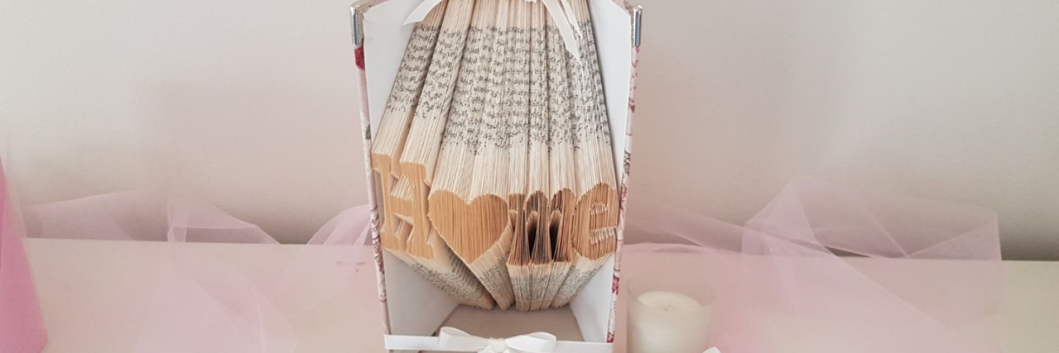 Book Folding Art: Small Heart